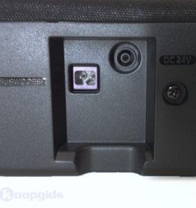 Samsung HW-K335 Soundbar subwoofer en voeding ingang