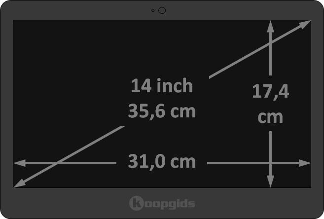 14 inch laptop afmetingen in cm