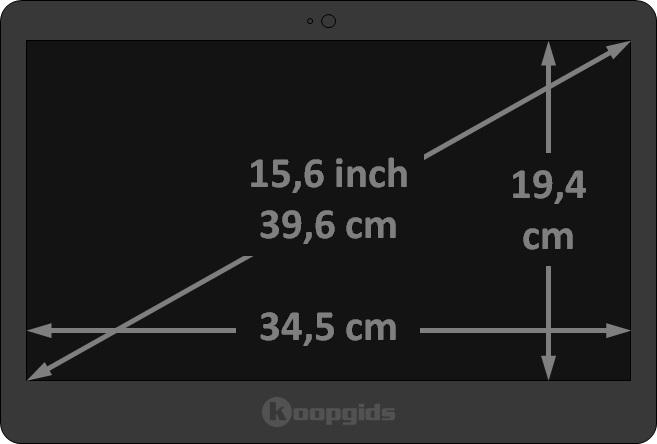 15,6 inch laptop afmetingen in cm