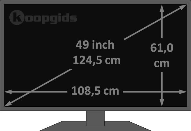 49 Inch TV afmetingen in cm