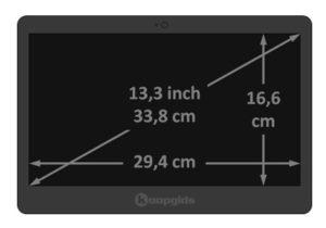 Inch Laptop Afmetingen In Cm Th