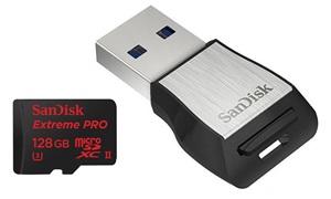 Sandisk Extreme Pro micro-SDXC kaart 128GB - met adapter