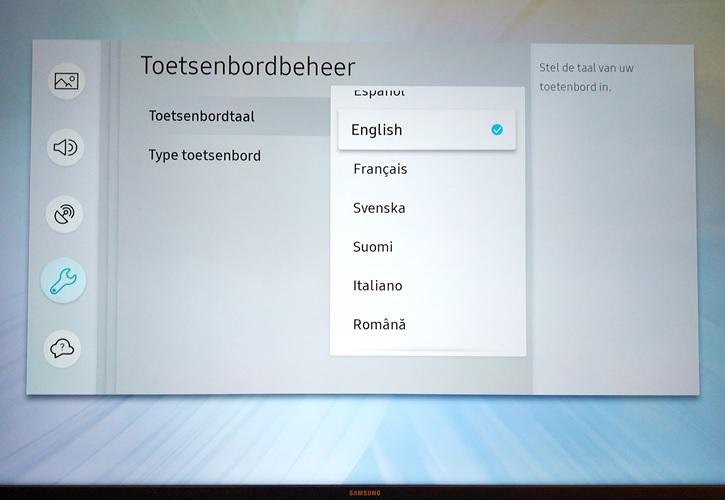 Samsung TV Toetsenbord taalinstellingen