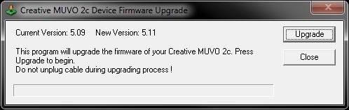 Creative Muvo 2c Firmware Upgrade