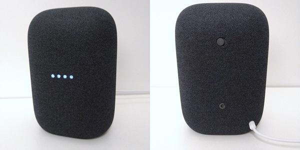 Google Nest Audio Review Voorkant Achterkant
